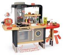 Elektronické kuchynky - Reštaurácia s elektronickou kuchynkou Chef Corner Restaurant Smoby s plotom a mikrovlnkou_9