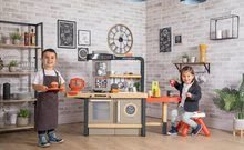 Elektronické kuchynky - Reštaurácia s elektronickou kuchynkou Chef Corner Restaurant Smoby s plotom a mikrovlnkou_28
