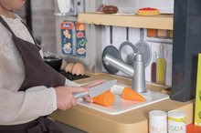 Elektronické kuchynky - Reštaurácia s elektronickou kuchynkou Chef Corner Restaurant Smoby s plotom a mikrovlnkou_51