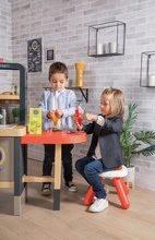 Elektronické kuchynky - Reštaurácia s elektronickou kuchynkou Chef Corner Restaurant Smoby s plotom a mikrovlnkou_32