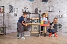 Elektronické kuchynky - Reštaurácia s elektronickou kuchynkou Chef Corner Restaurant Smoby s plotom a mikrovlnkou_54