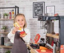 Elektronické kuchynky - Reštaurácia s elektronickou kuchynkou Chef Corner Restaurant Smoby s plotom a mikrovlnkou_61