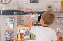 Elektronické kuchynky - Reštaurácia s elektronickou kuchynkou Chef Corner Restaurant Smoby s plotom a mikrovlnkou_67