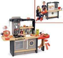Elektronické kuchynky - Reštaurácia s elektronickou kuchynkou Chef Corner Restaurant Smoby s plotom a mikrovlnkou_42