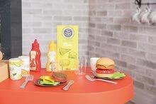 Elektronické kuchynky - Reštaurácia s elektronickou kuchynkou Chef Corner Restaurant Smoby s plotom a mikrovlnkou_24