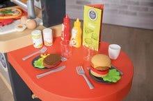 Elektronické kuchynky - Reštaurácia s elektronickou kuchynkou Chef Corner Restaurant Smoby s plotom a mikrovlnkou_13