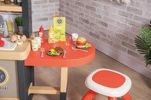 Elektronické kuchynky - Reštaurácia s elektronickou kuchynkou Chef Corner Restaurant Smoby s plotom a mikrovlnkou_27
