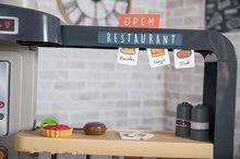 Elektronické kuchynky - Reštaurácia s elektronickou kuchynkou Chef Corner Restaurant Smoby s plotom a mikrovlnkou_26