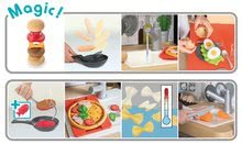 Elektronické kuchynky - Reštaurácia s elektronickou kuchynkou Chef Corner Restaurant Smoby s plotom a mikrovlnkou_35
