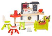 Kuchynky pre deti sety - Reštaurácia s elektronickou kuchynkou Chef Corner Restaurant Smoby s toasterom na záhrade_2