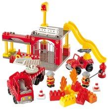 Stavebnice Abrick - Stavebnica Abrick - požiarna stanica s hasičskými autami Écoiffier s 2 figúrkami 69 dielov od 18 mes_0