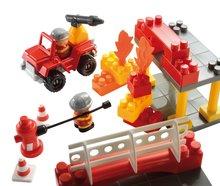 Stavebnice Abrick - Stavebnica Abrick - požiarna stanica s hasičskými autami Écoiffier s 2 figúrkami 69 dielov od 18 mes_1