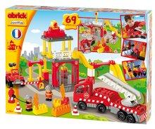 Stavebnice Abrick - Stavebnica Abrick - požiarna stanica s hasičskými autami Écoiffier s 2 figúrkami 69 dielov od 18 mes_2