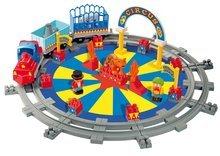 Építőjáték Abrick – cirkusz vonattal és sínekkel Écoiffier 5 figurával 56 darabos 18 hó-tól