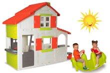 Set domeček pro děti Duplex Smoby patrový a houpačka Tuleň s vodotryskem