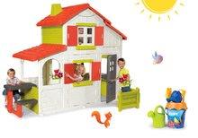 Set domček pre deti Duplex Smoby poschodový s predzáhradkou a vedro set Dory