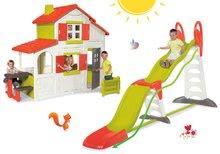 Set detský domček Maison Duplex Smoby poschodový a šmykľavka Super Megagliss 2v1 dĺžka 3,75/1,5 m