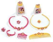 Kozmetický stolík pre deti - Kozmetický stolík Disney Princezné Smoby 2v1 so stoličkou a 10 doplnkami ružový_3
