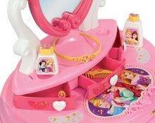 Kozmetický stolík pre deti - Kozmetický stolík Disney Princezné Smoby 2v1 so stoličkou a 10 doplnkami ružový_4