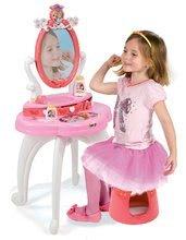 Kozmetický stolík pre deti - Kozmetický stolík Disney Princezné Smoby 2v1 so stoličkou a 10 doplnkami ružový_0