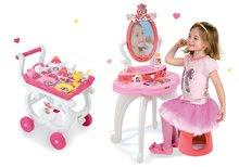 Set măsuţă de cosmetică 2-in1 Prinţesele Smoby și cărucior de servire cu set de ceai