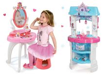 Set dětský kosmetický stolek 2v1 Princezny Smoby a dětská kuchyňka Frozen