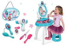 Kozmetické stolíky sety - Set kozmetický stolík Frozen Smoby so stoličkou a kadernícky set so sušičom na vlasy Frozen_13