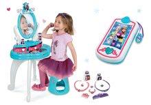 Kozmetické stolíky sety - Set kozmetický stolík so stoličkou 2v1 Frozen a kuchynka rastúca Tefal Evolutive s tečúcou vodou a magickým bublaním_56