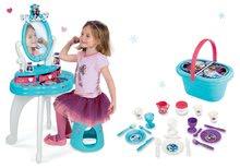 Komplet kozmetična miza Frozen Smoby s stolom in košara za piknik Frozen