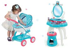 Kozmetické stolíky sety - Set kozmetický stolík Frozen Smoby so stoličkou a hlboký kočík pre bábiku Frozen (58 cm rúčka)_12