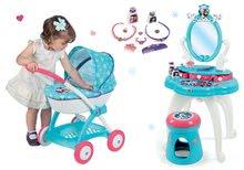 Kozmetické stolíky sety - Set kozmetický stolík Frozen Smoby so stoličkou a hlboký kočík pre bábiku Frozen (58 cm rúčka)_11