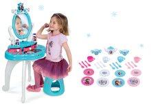 Set masă cosmetică cu scaune 2în1 Smoby Frozen și cu set de ceai mare Frozen