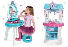 Szett pipere asztal gyerekeknek Frozen Smoby székkel és játékkonyha Frozen csillámokkal