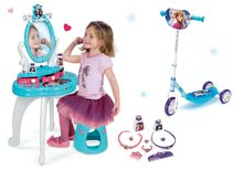 Set masă cosmetică cu scaun 2 în 1 Smoby Frozen cu roller cu trei roți Frozen