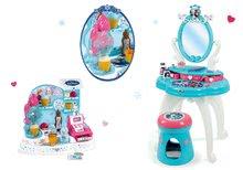 Szett gyerek pipere asztal Frozen Smoby székkel és fagylaltozó Frozen