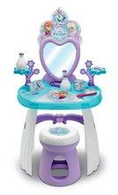 Kozmetický stolík Frozen Smoby so stoličkou a snehovými vločkami 10 doplnkov 45*29*90 cm SM320221