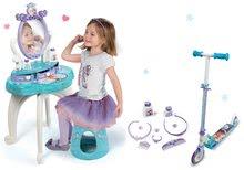 Kozmetické stolíky sety - Set kozmetický stolík Frozen Smoby so stoličkou a dvojkolesová kolobežka Frozen_11