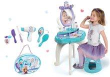 Kozmetické stolíky sety - Set kozmetický stolík Frozen Smoby so stoličkou a kadernícky set so sušičom na vlasy Frozen_11