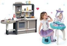 Kozmetické stolíky sety - Set kozmetický stolík so stoličkou 2v1 Frozen a kuchynka rastúca Tefal Evolutive s tečúcou vodou a magickým bublaním_55
