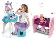 Set kozmetický stolík Frozen Smoby so stoličkou a nákupná taška Frozen na kolieskach