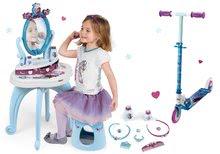 Kozmetické stolíky sety - Set kozmetický stolík Frozen Smoby so stoličkou a dvojkolesová kolobežka Frozen_10