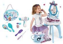 Kozmetické stolíky sety - Set kozmetický stolík Frozen Smoby so stoličkou a kadernícky set so sušičom na vlasy Frozen_8
