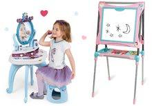Kozmetické stolíky sety - Set kozmetický stolík Frozen Smoby so stoličkou a magnetická obojstranná tabuľa polohovateľná_20