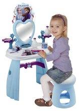 Kosmetický stolek pro děti - Kosmetický stolek se židličkou Frozen Smoby se srdíčkovým zrcadlem a 10 doplňky_0