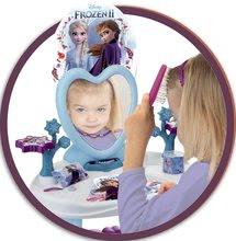 Kosmetický stolek pro děti - Kosmetický stolek se židličkou Frozen Smoby se srdíčkovým zrcadlem a 10 doplňky_1