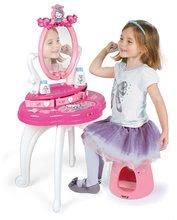 Kozmetične mizice kompleti - Komplet kozmetična mizica s stolčkom Hello Kitty Smoby s porcelanastim čajnom setom_2
