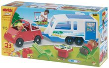 Stavebnice Abrick - Stavebnice Auto s karavanem Abrick Écoiffier 23 dílů od 18 měsíců_1