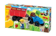 Stavebnice Abrick - Stavebnica Traktor s vlečkou, farmárom a zajačikom Abrick Écoiffier 22 dielov od 18 mes_1