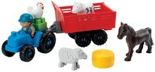 Stavebnice Abrick - Stavebnica traktor s vlečkou a zvieratkami Abrick Écoiffier 25 dielov od 18 mes_0