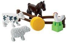 Stavebnice Abrick - Stavebnica traktor s vlečkou a zvieratkami Abrick Écoiffier 25 dielov od 18 mes_1